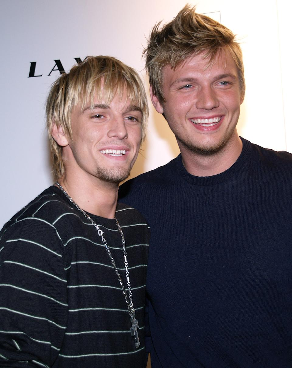Aaron Carter and Nick Carter (Photo by Michael Tran/FilmMagic)
