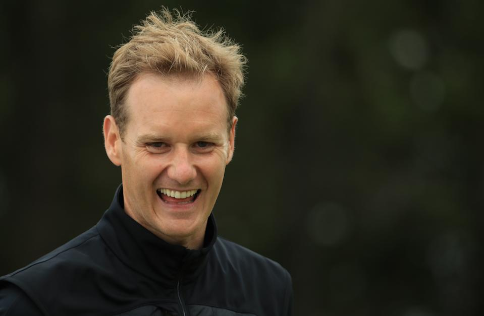 NORTH BERWICK, SCOTLAND - JULY 10: Dan Walker, BBC TV presenter, in action during the Pro Am event prior to the start of the Aberdeen Standard Investments Scottish Open at The Renaissance Club on July 10, 2019 in North Berwick, United Kingdom. (Photo by Andrew Redington/Getty Images)