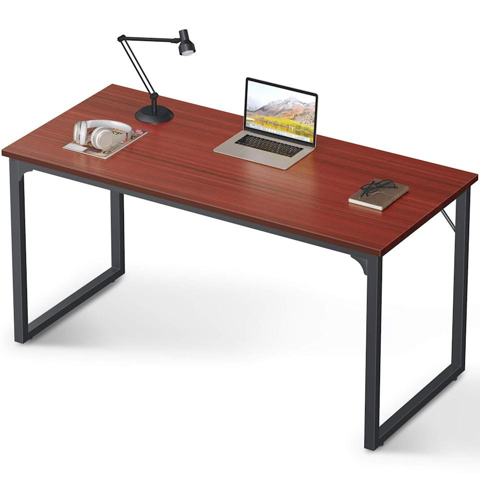 "<h2>Modern Computer Desk</h2><br><br><strong>Coleshome</strong> Coleshome Modern Computer Desk, $, available at <a href=""https://amzn.to/3dlCj0i"" rel=""nofollow noopener"" target=""_blank"" data-ylk=""slk:Amazon"" class=""link rapid-noclick-resp"">Amazon</a>"
