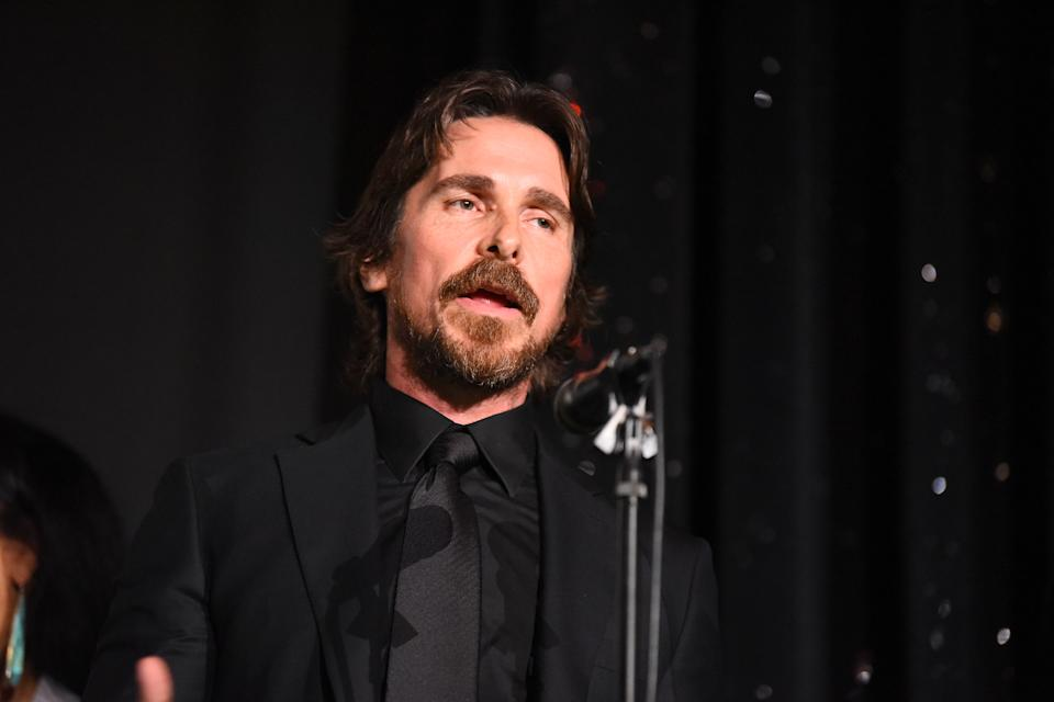 Christian Bale at the 24th RNCI Red Nation International Film Festival and Awards Ceremony on November 15, 2019 in Beverly Hills, California. (Photo by Araya Diaz/Getty Images for Red Nation Film Festival)
