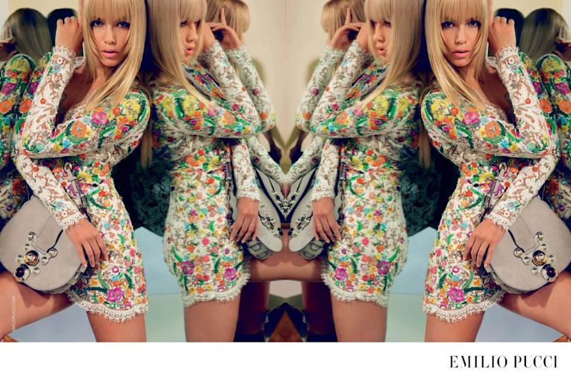 Natasha Poly in the Emilio Pucci Spring-Summer 2015 campaign.