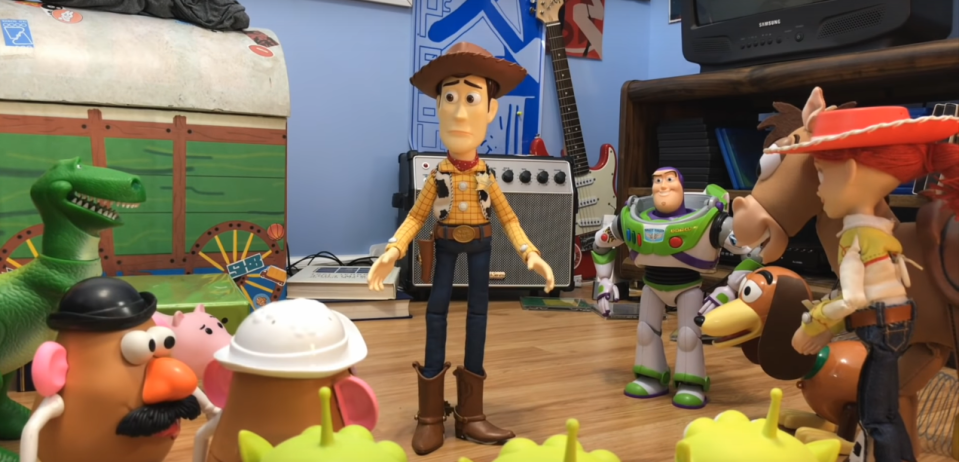 Toy Story 3 recreated with real toys (Credit: YouTube)