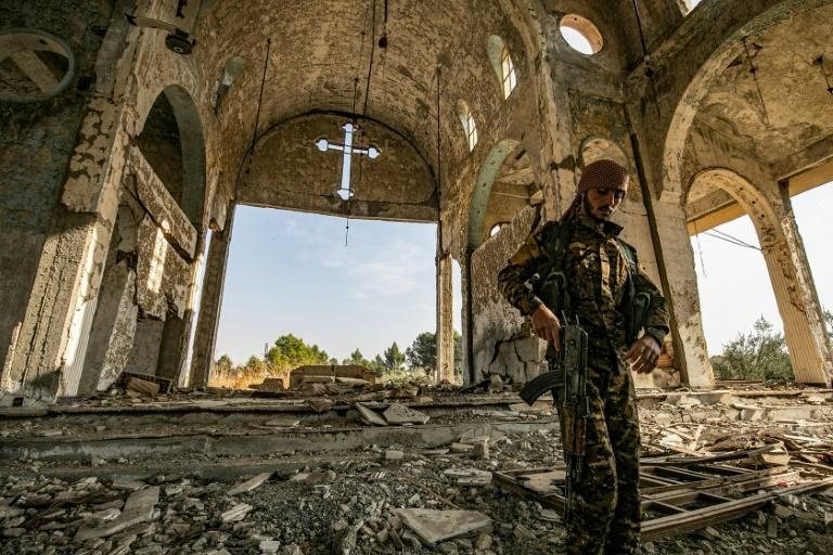 """Members of the small Assyrian militia the """"Khabur Guards"""" have taken up the defence of Assyrian towns in the face of a possible Turkish advance"""