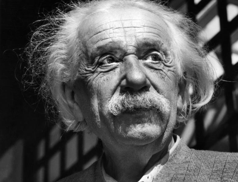 FILE - This June, 1954, file photo shows renowned physicist Albert Einstein in Princeton, N.J. More than a decade before the Nazis seized power in Germany, Albert Einstein was on the run and already fearful for his country's future, according to a newly revealed handwritten letter. (AP Photo, File)