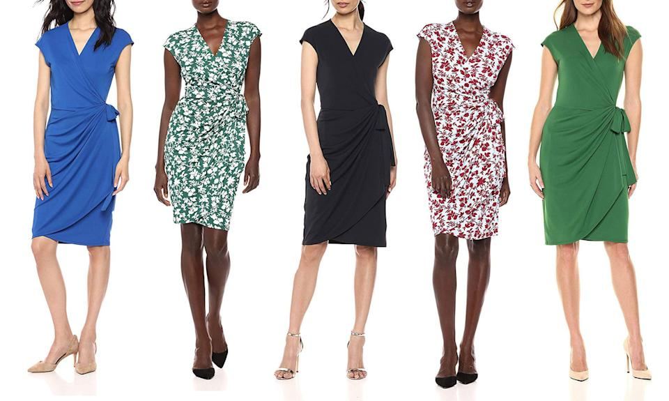 Amazon's best-selling work dress is by Lark & Ro and it's available in 24 different colors and styles for just $39. (Photo: Amazon)