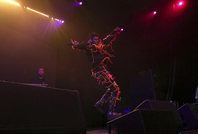 Lil Nas X performs live on stage at the 2020 Spotify Best New Artist Party at The Lot Studios on Thursday, Jan. 23, 2020, in West Hollywood, Calif. (Photo by Willy Sanjuan/Invision/AP)