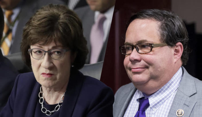 Sen. Susan Collins, R-Maine; Rep. Blake Farenthold, R-Texas (Photos: J. Scott Applewhite/AP, Tom Williams/CQ Roll Call)