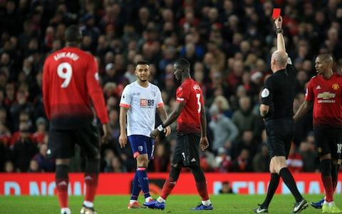 <span>Bailly is currently serving a three-match ban after being sent off against Bournemouth </span> <span>Credit: Getty Images </span>