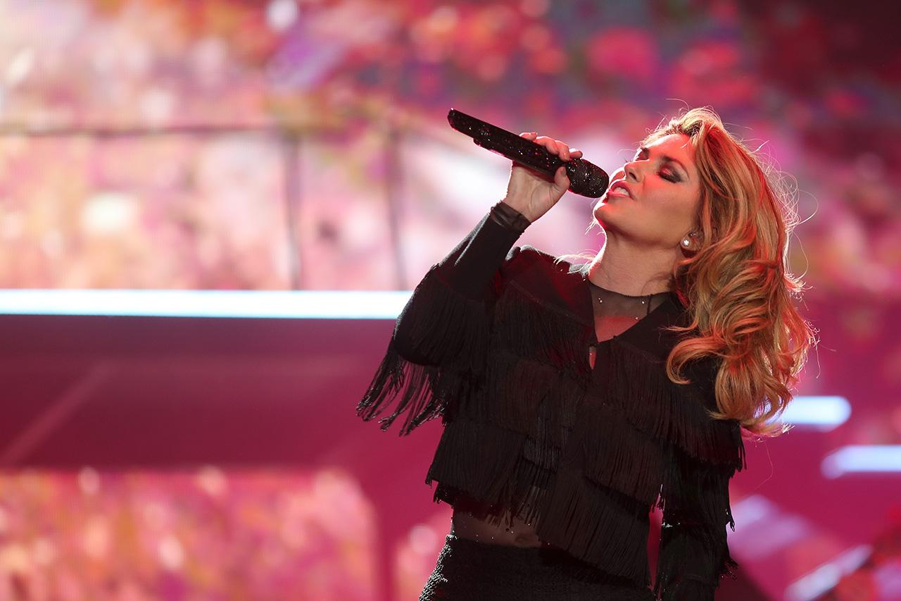 <p>Shania Twain performs on the Toyota Mane Stage during day 2 of 2017 Stagecoach California's Country Music Festival on April 29, 2017 in Indio, California. (Photo by Christopher Polk/Getty Images for Stagecoach) </p>