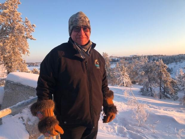 Felix Lockhart is a Yellowknife-based elder and former chief of Łutsel K'e Dene First Nation. He says urgent action is needed on climate change. (Loren McGinnis/CBC - image credit)