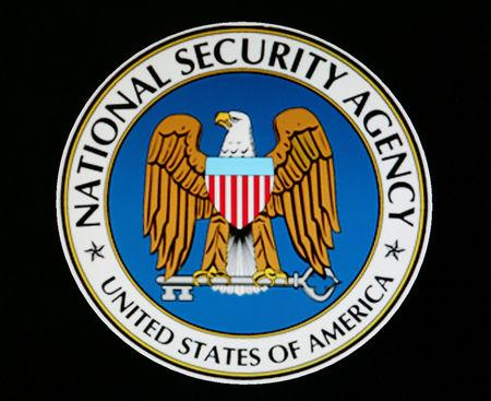 FILE PHOTO: The logo of the U.S. National Security Agency is seen during a visit by [U.S. President George W. Bu..