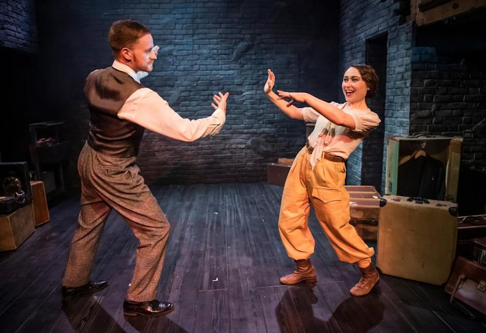 'We had to dig ourselves out of various lockdowns' ... Benedict Salter and Hannah Edwards in Lone Flyer at the Watermill in 2020.