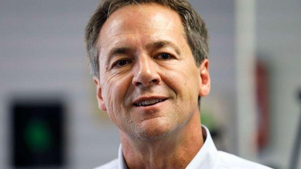 PHOTO: Democratic presidential candidate Montana Gov. Steve Bullock speaks to reporters on July 9, 2019, in Gowrie, Iowa. (Charlie Neibergall/AP, FILE)
