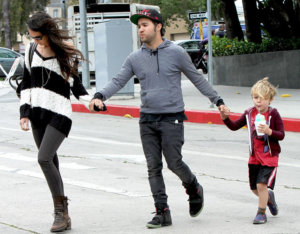 Musician Pete Wentz had his hands full when he and model girlfriend Megan Camper took his 4-year-old son Bronx (mom is Wentz's ex-wife Ashlee Simpson) to the farmers market in Studio City, California, on Sunday afternoon. (5/5/2013)