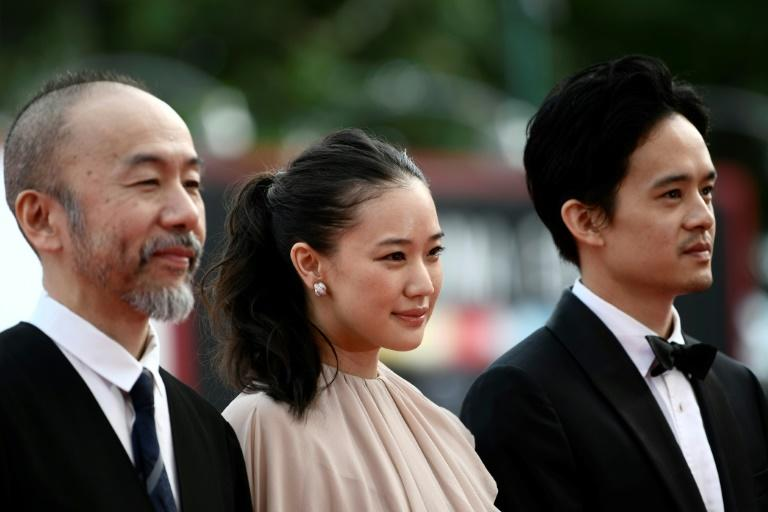 """Joining Tsukamoto for a Venice screening which drew prolonged applause were Yu Aoi, who as a peasant girl makes her feelings known for the hero, and """"The Last Samurai"""" actor Sosuke Ikematsu"""