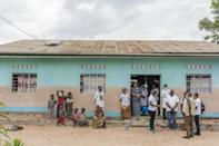 The hospital at Tudikolela is supported by the charity Action Against Hunger