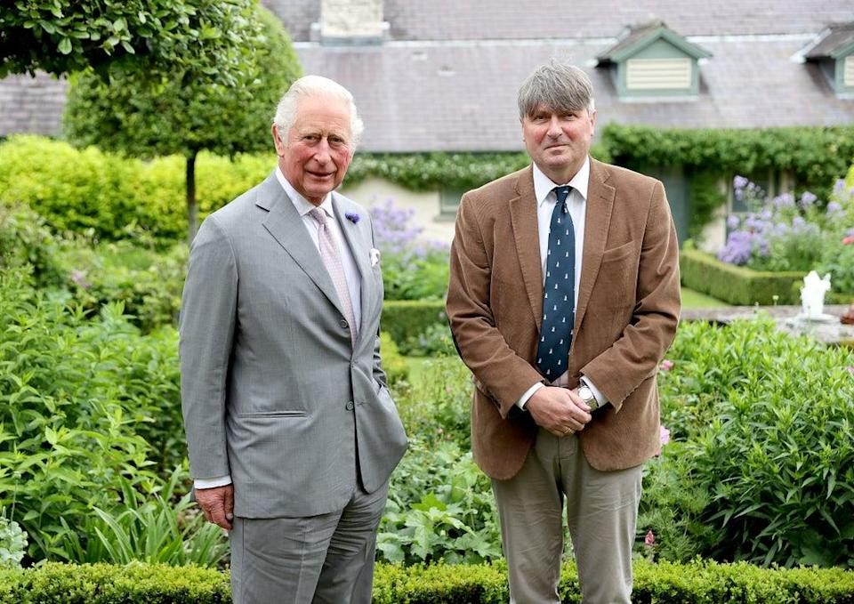The Prince of Wales (left) with Poet Laureate, Simon Armitage, during a meeting at his Welsh home in Myddfai, Wales (Chris Jackson/PA) (PA Wire)
