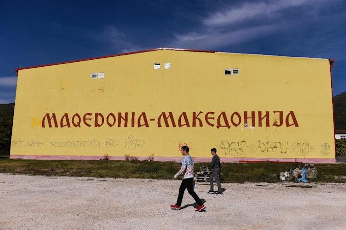 Under an accord struck with Greece, the Balkan state would rename itself North Macedonia in exchange for Athens' promise to stop blocking its entry into NATO and the European Union (AFP Photo/Armend NIMANI)