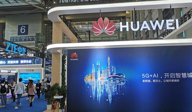 The Huawei booth at the China Hi-Tech Fair 2019. Photo: Coco Feng