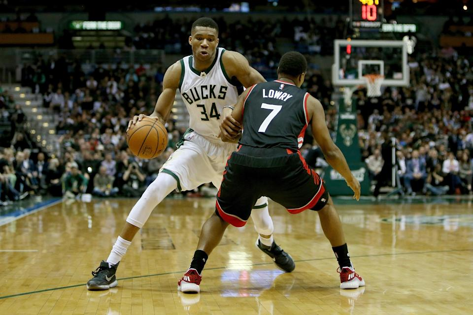 The Bucks ruled <span>Giannis Antetokounmpo out for the remainder of Wednesday's game after he suffered a sprained ankle.</span> (Getty)