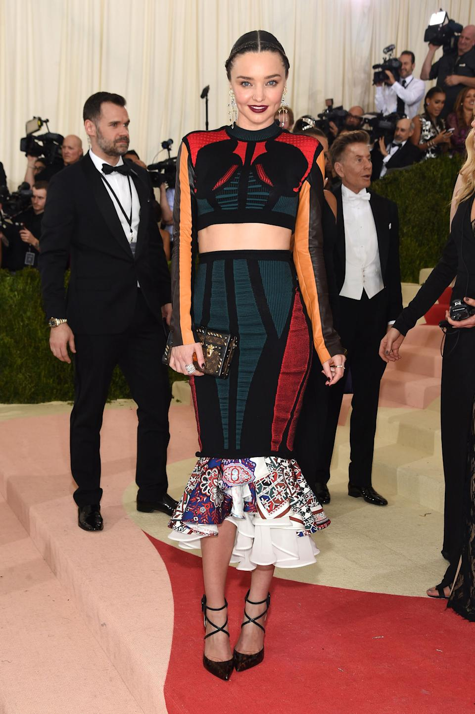 """<h1 class=""""title"""">Miranda Kerr in a Louis Vuitton dress and Christian Louboutin shoes</h1><cite class=""""credit"""">Photo: Getty Images</cite>"""