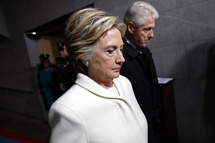 """Weinstein was a major Democratic Party benefactor, having donated to or raised money for a host of candidates, including Hillary Clinton.<br><br><a href=""""http://edition.cnn.com/2017/10/10/politics/hillary-clinton-harvey-weinstein/index.html"""" rel=""""nofollow noopener"""" target=""""_blank"""" data-ylk=""""slk:Clinton said that she"""" class=""""link rapid-noclick-resp"""">Clinton said that she</a> """"was shocked and appalled by the revelations about Harvey Weinstein. The behavior described by women coming forward cannot be tolerated. Their courage and the support of others is critical in helping to stop this kind of behavior."""""""