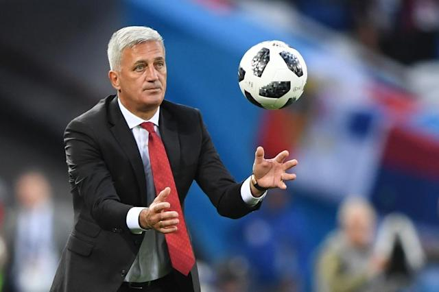 Switzerland's coach Vladimir Petkovic brought on attackers Breel Embolo and Mario Gavranovic in search of a winner (AFP Photo/OZAN KOSE)