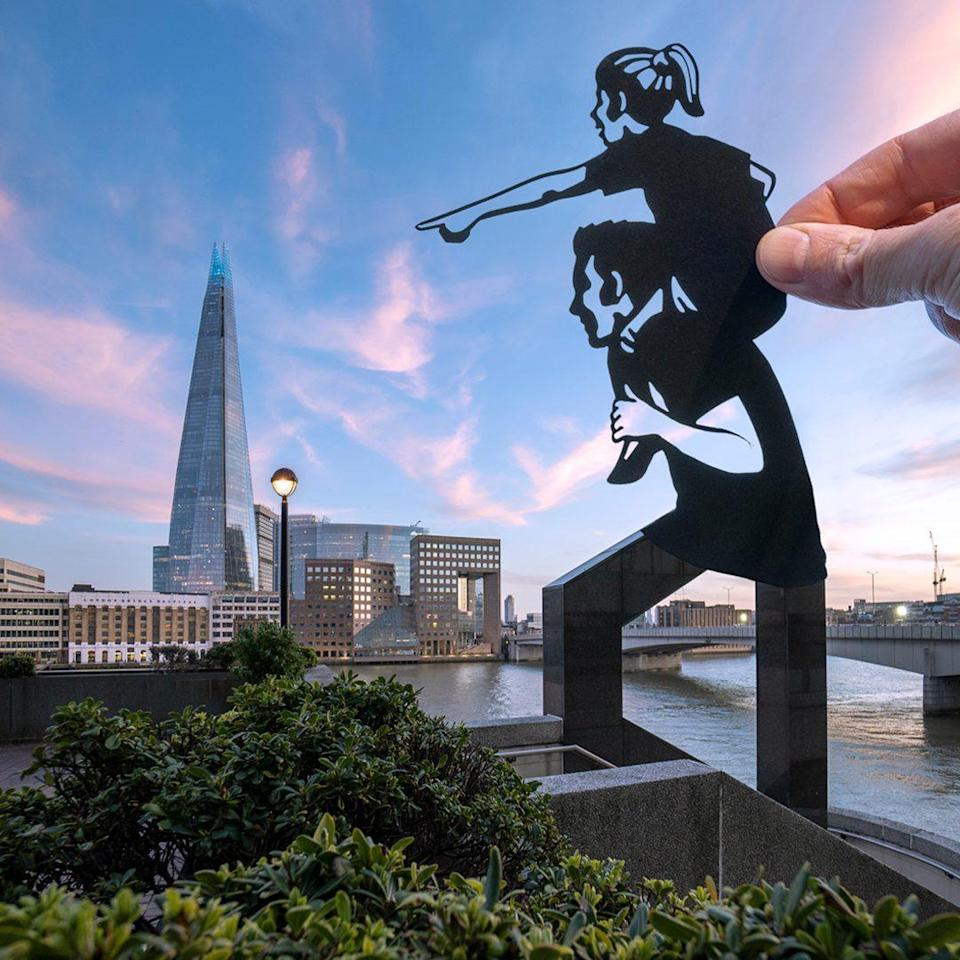Paper artist Rich McCor (aka Paperboyo) captures the excitement of a reopening London, in association with Sony - Rich McCor