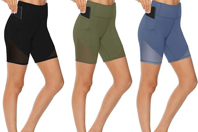 These Stretchy Yoga Shorts Are Made from the Softest Material, According to  Amazon Shoppers