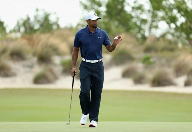 """<a class=""""link rapid-noclick-resp"""" href=""""/pga/players/147/"""" data-ylk=""""slk:Tiger Woods"""">Tiger Woods</a> is putting well in his comeback. (Getty Images)"""