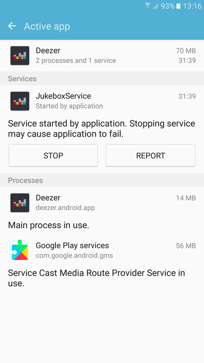android apps background kill running services