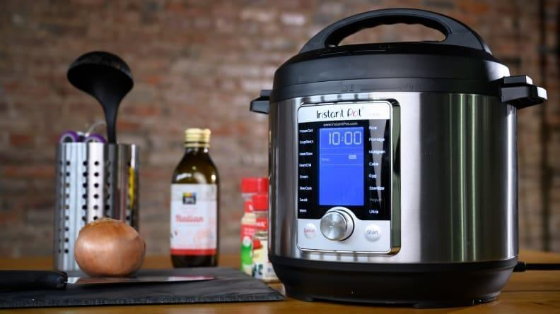 Whip up a hearty chili or gooey dip in a pressure cooker like this top-rated Instant Pot Ultra.