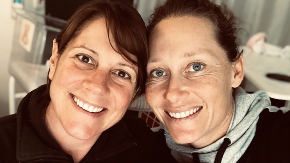 Australian tennis champion Sam Stosur has opened up about the moment she took her relationship with long-time partner Liz Astling public back in 2019. Picture: Instagram/samstosur
