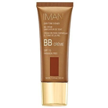"""<h3>IMAN Skin Tone Evener BB Cream SPF 15</h3> <br>This formula works particularly well for those with anyone with a medium to deep skin tone looking for light color coverage. Not only does it even skin tone and blur pores, it's protective, too.<br><br><strong>Iman</strong> IMAN Skin Tone Evener BB Cream SPF 15, Clay Medium Deep, $, available at <a href=""""https://go.skimresources.com/?id=30283X879131&url=https%3A%2F%2Fwww.walgreens.com%2Fstore%2Fc%2Fiman-skin-tone-evener-bb-cream-spf-15%2FID%3Dprod6408225-product%3FskuId%3Dsku6156376"""" rel=""""nofollow noopener"""" target=""""_blank"""" data-ylk=""""slk:Walgreens"""" class=""""link rapid-noclick-resp"""">Walgreens</a><br>"""