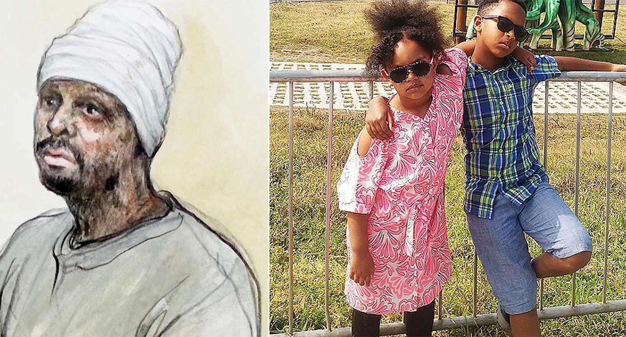 Endris Mohammed has been convicted of killing his two children Saros and Leanor (West Midlands police/PA)