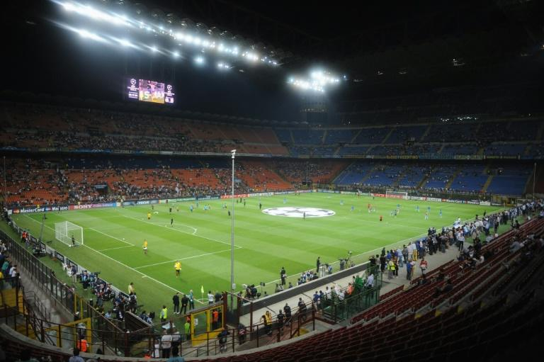 A general view of San Siro stadium is seen before the qualifying round of the Champions League match between Inter and Trabzonspor on September 14, 2011 in San Siro Stadium in Milan