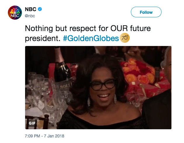 NBC deleted this tweet after a backlash from critics who said it showed bias. (Image: NBC via Twitter)
