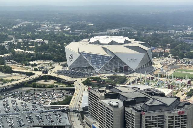 Mercedes Benz Stadium opened in 2017 at a cost of $1.6 billion. (Getty Images)