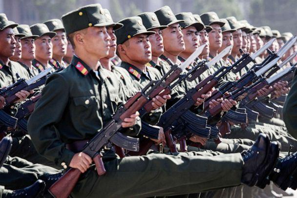 PHOTO: Korean People's Army soldiers march during a mass rally on Kim Il Sung square in Pyongyang in this Sept. 9, 2018 file photo. (Ed Jones/AFP/Getty Images)