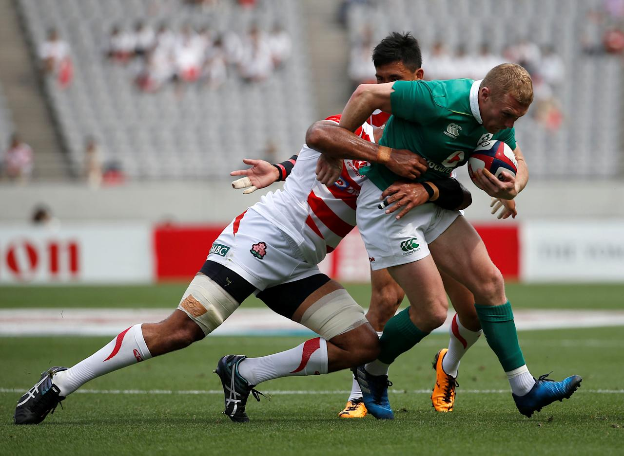 Rugby Union - Japan v Ireland - Ajinomoto Stadium, Tokyo, Japan - June 24, 2017 - Ireland's Keith Earls in action. REUTERS/Issei Kato