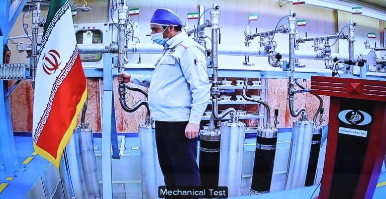 An engineer inside Iran's Natanz uranium enrichment plant