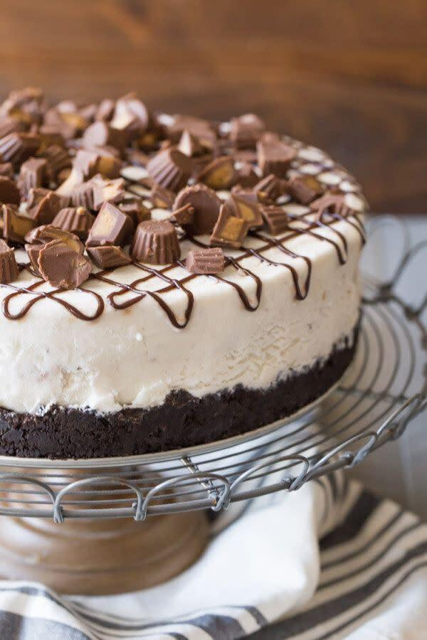 "<a href=""https://lovelylittlekitchen.com/peanut-butter-cup-ice-cream-cake/"" rel=""nofollow noopener"" target=""_blank"" data-ylk=""slk:Peanut Butter Cup Ice Cream Cake from Lovely Little Kitchen"" class=""link rapid-noclick-resp""><strong>Peanut Butter Cup Ice Cream Cake from Lovely Little Kitchen</strong></a>"
