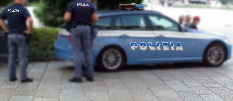 Scenery Of Italian Police Force In Europe