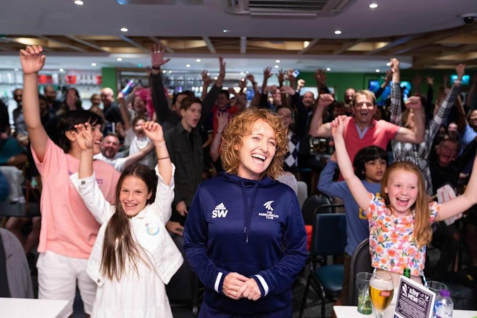 Supporters gathered at the Parklangley Club in Beckenham (David Parry/PA) (PA Wire)