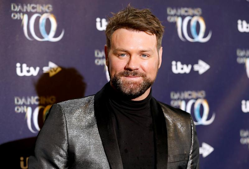 Brian McFadden attending the press launch for the upcoming series of Dancing On Ice at the Natural History Museum in Kensington, London. Picture date: Tuesday December 18, 2018. Photo credit should read: David Parry/PA Wire (Photo by David Parry/PA Images via Getty Images)