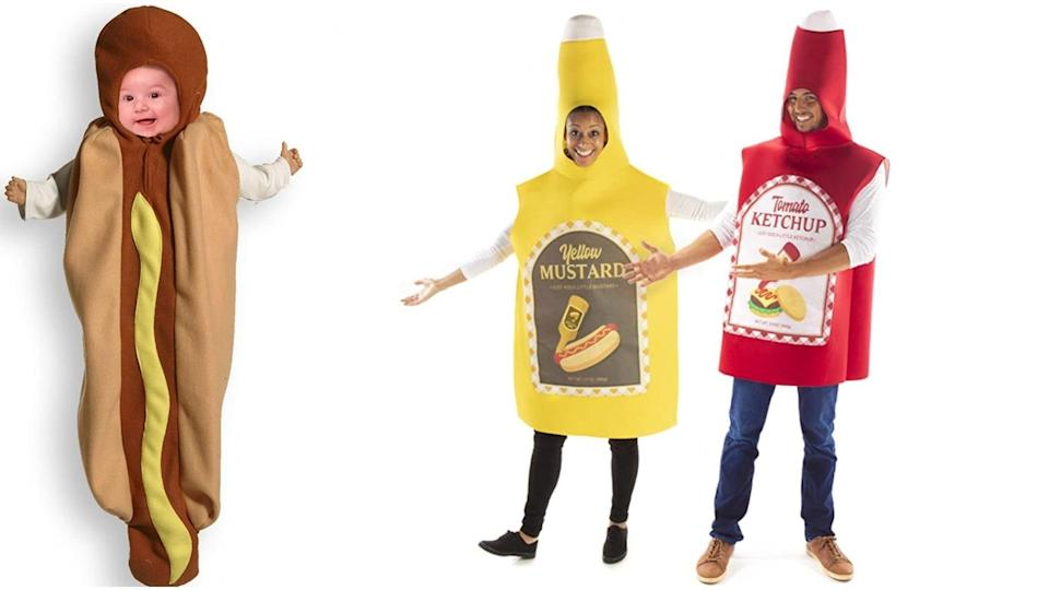 You'll be quite the spread in this fast-food inspired family costume.