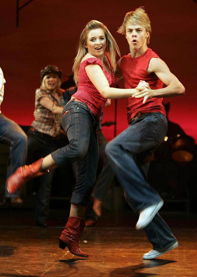 """Starring in """"Footloose"""" is something of a Hough family tradition. Not only is Julianne playing the female lead in this updated version of the '84 dance flick, but her brother Derek played Kevin Bacon's part, Ren McCormack, in the London production of the """"Footloose"""" musical."""