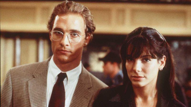 McConaughey and Sandra Bullock in A Time To Kill.