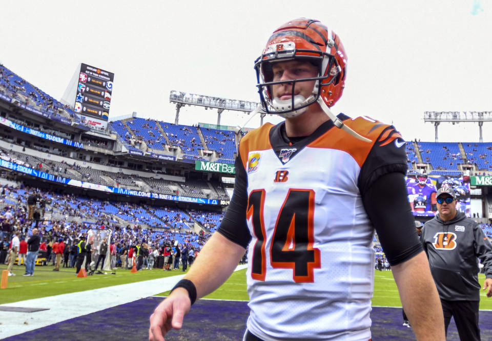Bengals quarterback Andy Dalton has been benched ... on his birthday. (Getty)