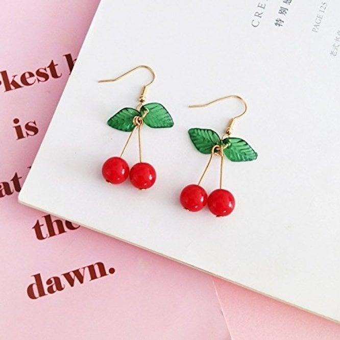 <p>These <span>Hithop Cherry Dangle Earrings</span> ($7) are perfect for summer.</p>
